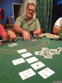 Grant nails a straight flush - a little early in the night though!